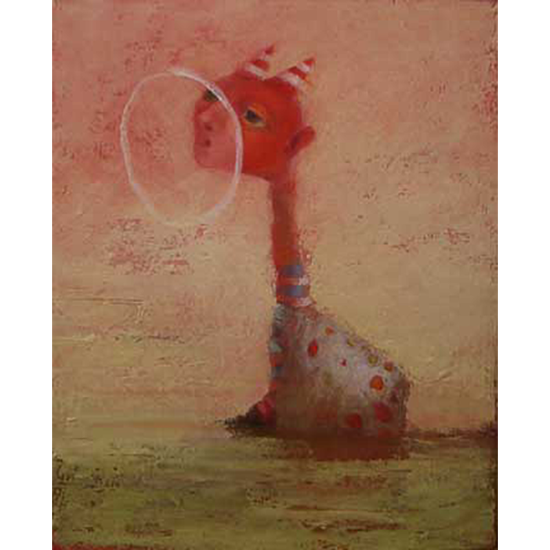 Red Oil On Board