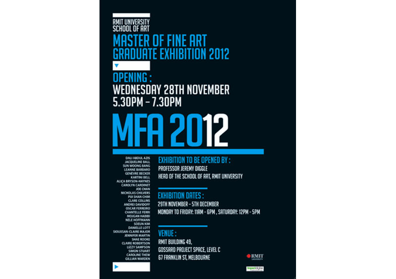 Master Of Fine Art graduate Exhibition