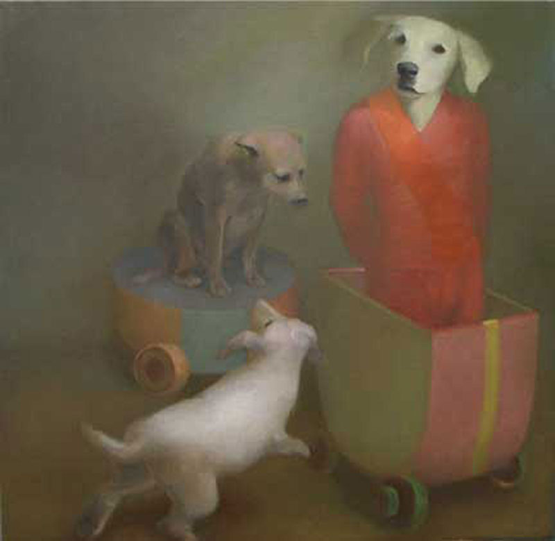 Dogboys Oil On Canvas