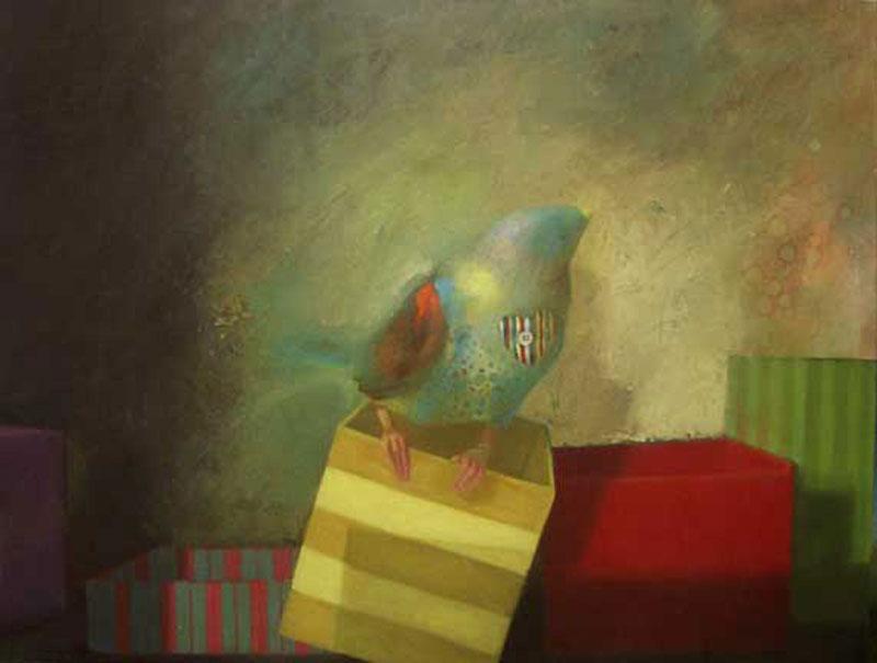 Jackbird Oil On Canvas